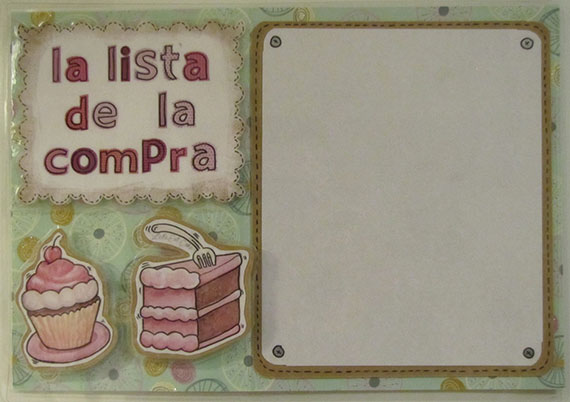 Foto 1 Fofucha Pizarra para la lista de la compra