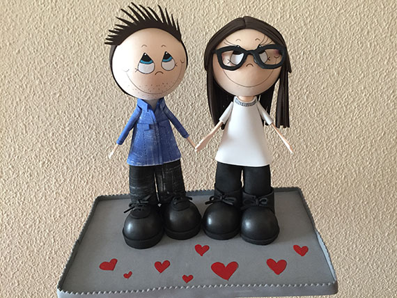 Foto 1 Fofucha Pareja de enamorados 4